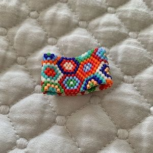Handmade. Colorful. Durable. Beaded ring.